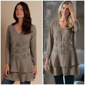 Soft Surroundings Bellissimo Tunic Tiered Flowy